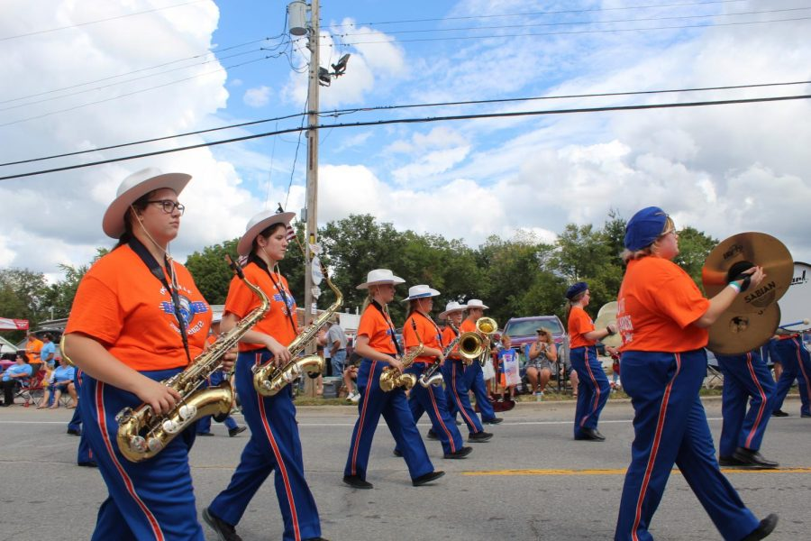 Okawville Band Marches in Wheat Festival Parade