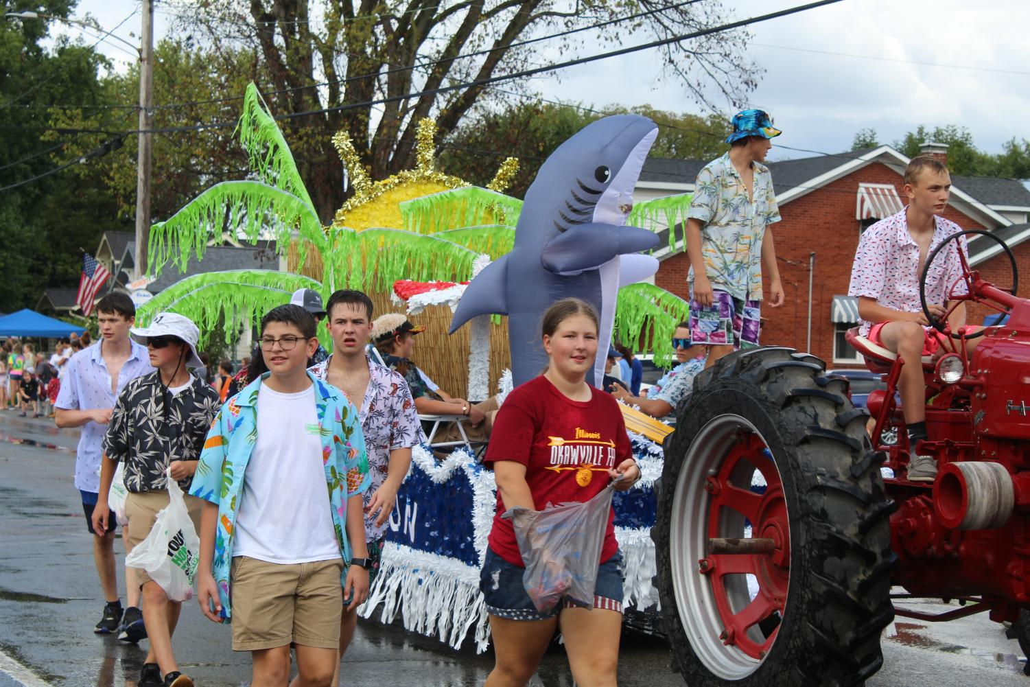 FFA float, Vacation, awarded 3rd place in Wheat Fest parade.